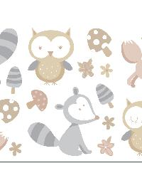 Forest Friends Neutral Wall Stickers by  Brewster Wallcovering