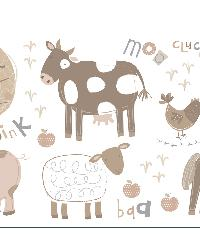 Farm Neutral Wall Stickers by  Brewster Wallcovering