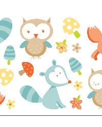 Forest Friends Multi Wall Stickers by  Brewster Wallcovering