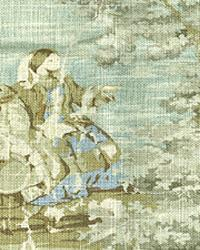 Blue French Country Toile Fabric  Colonial Spa