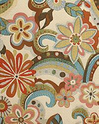 Multi Modern Floral Designs Fabric  Geller Peacock