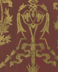 Abbeywood Damask Balmoral Red by