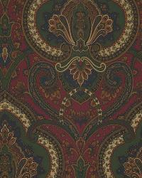 Castlehead Paisley Calvary Red by  Ralph Lauren Wallpaper