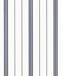 Trevor Stripe Navy by  Ralph Lauren Wallpaper
