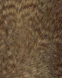 Brown Animal Print Faux Fur Fabric  Rocky Brown