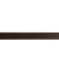 4ft 2inD Metal Traverse Rod Track Brown by