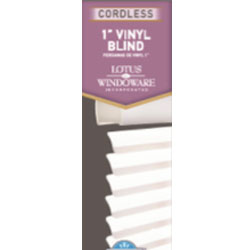 "Cordless 1"" Vinyl Mini Blinds"