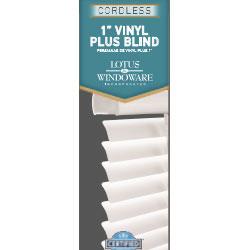 "Cordless 1"" Vinyl Mini Blinds Plus"